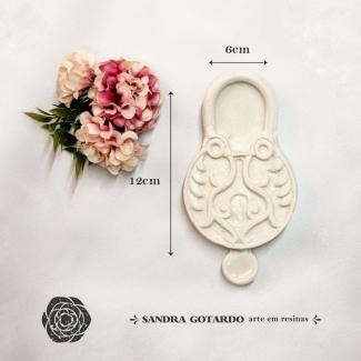 Aplique Resina  Cadeado Colonial  - CDA001 - Sandra Gotardo