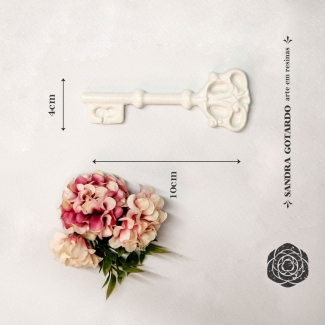 Aplique Resina chave colonial - CHA006 - Sandra Gotardo
