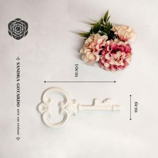 Aplique Resina chave colonial  - CHA007 - Sandra Gotardo
