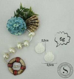 Aplique Resina Conjunto de Conchas - CH002 - Sandra Gotardo