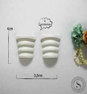 Aplique Resina Conjunto de Vasos - BP008 - Sandra Gotardo