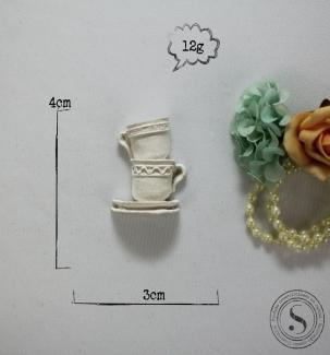 Aplique Resina Conjunto de Xícaras - CZ013 - Sandra Gotardo