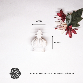 Aplique Resina Coro 3D - CO011 - Sandra Gotardo