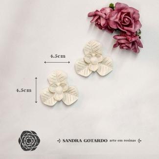 Aplique Resina Flor ( 2UN) -FO009 - Sandra Gotardo