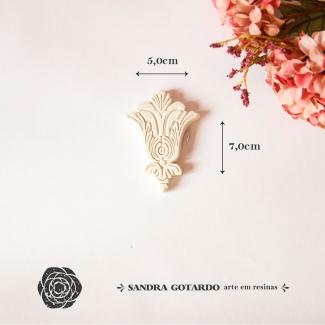 Aplique Resina Flor de Lis - FL004 - Sandra Gotardo