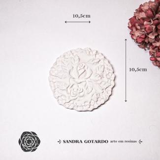 Aplique Resina Flor - FO012 - Sandra Gotardo