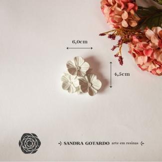 Aplique Resina Flores - FO015 - Sandra Gotardo