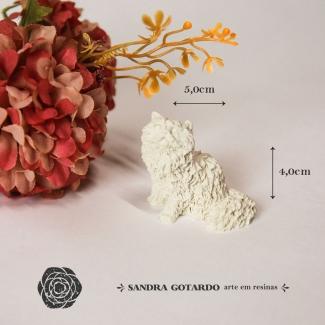 Aplique Resina Gato - BC012 - Sandra Gotardo