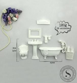 Aplique Resina Kit Banheiro  - KH001 - Sandra Gotardo