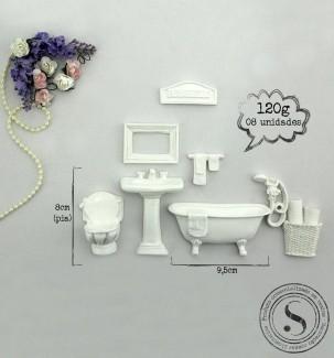 Aplique Resina Kit Banheiro  - KH 001 - Sandra Gotardo