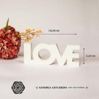 Aplique Resina Love - DVL003 - Sandra Gotardo