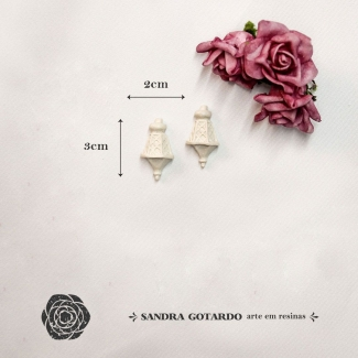 Aplique Resina  Luminaria PP ( 2UN) - BP051 - Sandra Gotardo