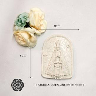 Aplique Resina  Medalha Nossa Senhora Aparecida  - ES047 - Sandra Gotardo