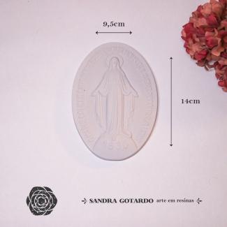 Aplique Resina Medalha Nossa Senhora-ES054-Sandra Gotardo