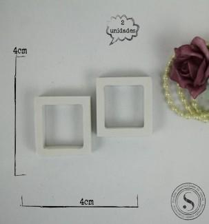 Aplique Resina Mini Molduras Quadradas - AI036 - Sandra Gotardo