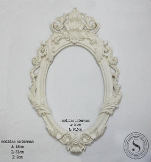 Aplique Resina Moldura Oval - MOG006 - Sandra Gotardo