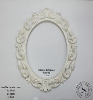 Aplique Resina Moldura Oval - MOG 001 - Sandra Gotardo