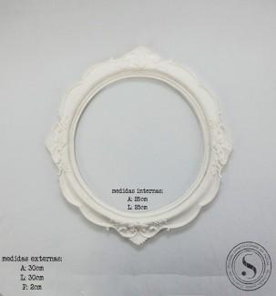 Aplique Resina Moldura Oval - MOG 004 - Sandra Gotardo