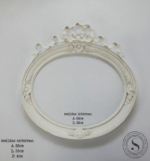 Aplique Resina Moldura Oval - MOM007 - Sandra Gotardo