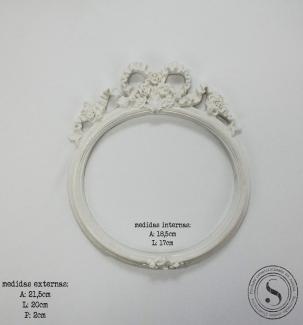 Aplique Resina Moldura Oval - MOM011 - Sandra Gotardo
