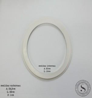 Aplique Resina Moldura Oval - MOM 009 - Sandra Gotardo