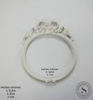 Aplique Resina Moldura Oval - MOM 011 - Sandra Gotardo