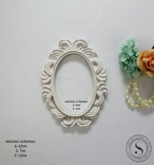 Aplique Resina Moldura Oval - MOP013 - Sandra Gotardo