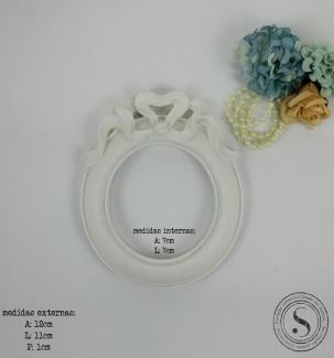 Aplique Resina Moldura Oval - MOP019 - Sandra Gotardo