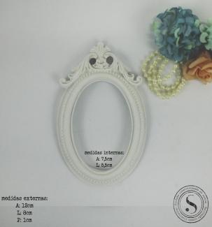 Aplique Resina Moldura Oval - MOP022 - Sandra Gotardo