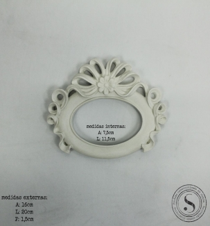 Aplique Resina Moldura Oval - MOP025 - Sandra Gotardo