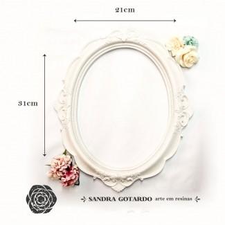 Aplique Resina Moldura oval Real M 31x2x2,5 - resina MOM 015 - Sandra Gotardo