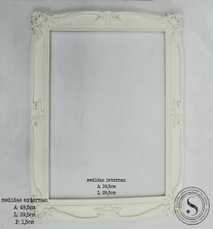 Aplique Resina Moldura Quadrada - MQG015 - Sandra Gotardo