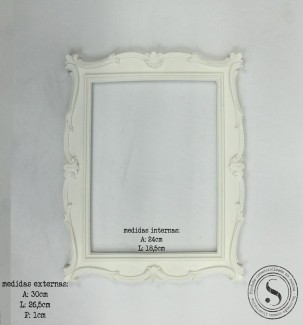 Aplique Resina Moldura Quadrada - MQG017 - Sandra Gotardo