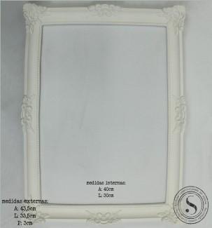 Aplique Resina Moldura Quadrada - MQG018 - Sandra Gotardo