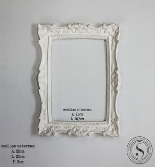 Aplique Resina Moldura Quadrada - MQM 002 - Sandra Gotardo
