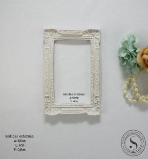 Aplique Resina Moldura Quadrada - MQP011 - Sandra Gotardo