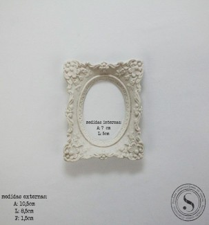 Aplique Resina Moldura Quadrada - MQP 012 - Sandra Gotardo