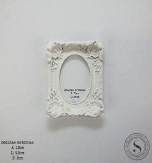 Aplique Resina Moldura Quadrada - MQP 014 - Sandra Gotardo