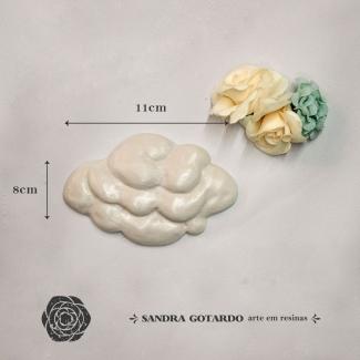 Aplique Resina Nuvem -AI046 - Sandra Gotardo