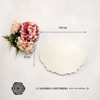 Aplique Resina Placa Para Nome  - AI047 - Sandra Gotardo