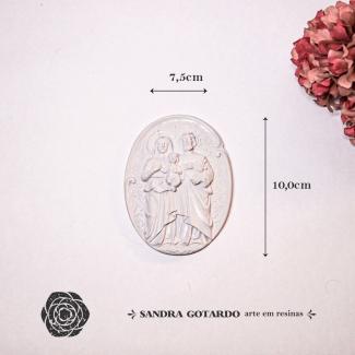 Aplique Resina Sagrada Familia -ES055-Sandra Gotardo