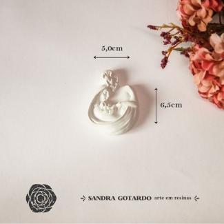 Aplique Resina Sagrada Familia - ES068 - Sandra Gotardo