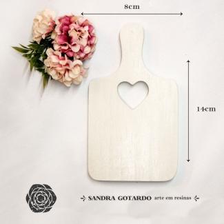 Aplique Resina tábua de corte -CZ014 - Sandra Gotardo