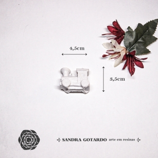 Aplique Resina Trem - AI052- Sandra Gotardo