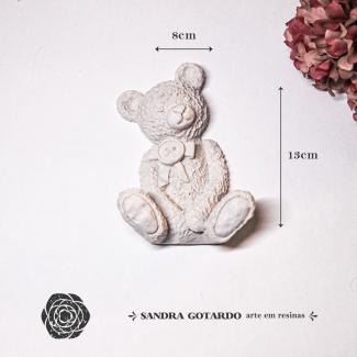 Aplique Resina Urso 2d -UR024 - Sandra Gotardo