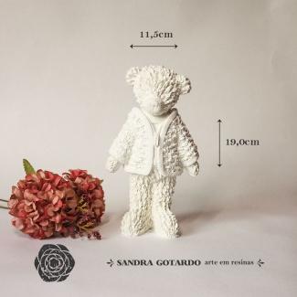 Aplique Resina Urso 3D - UR028 - Sandra Gotardo
