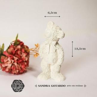 Aplique Resina Urso 3D - UR029 - Sandra Gotardo