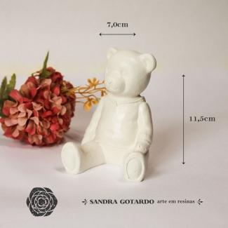 Aplique Resina Urso 3D - UR032 - Sandra Gotardo