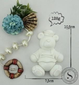 Aplique Resina Urso Marinheiro - UM001 - Sandra Gotardo