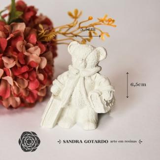 Aplique Resina Urso - UR031 - Sandra Gotardo
